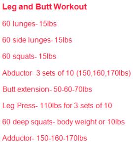 Leg and Butt circuit workout