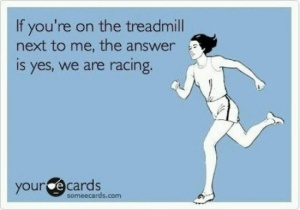 Running treadmill race