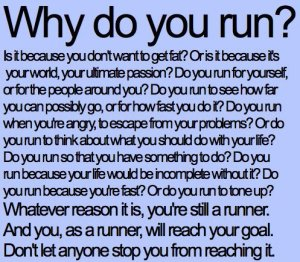 why do you run