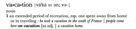 vacation-definition